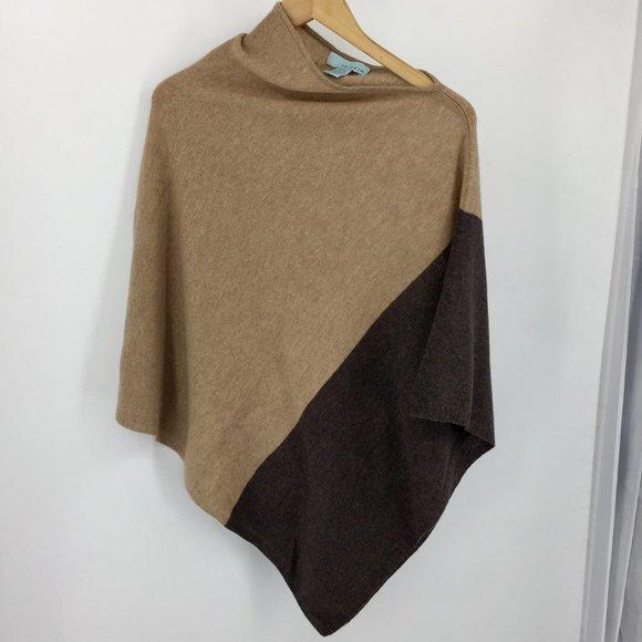 Celeste wool cashmere sweater knit poncho women's